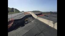 Asfalto esploso sulla Statale 554 in Sardegna