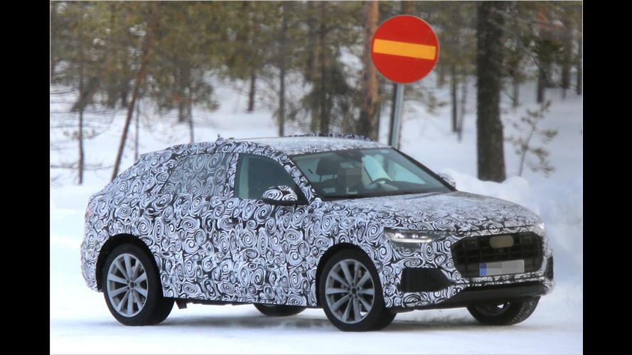 Erlkönig-Vergleich: Audi Q8 gegen Q7