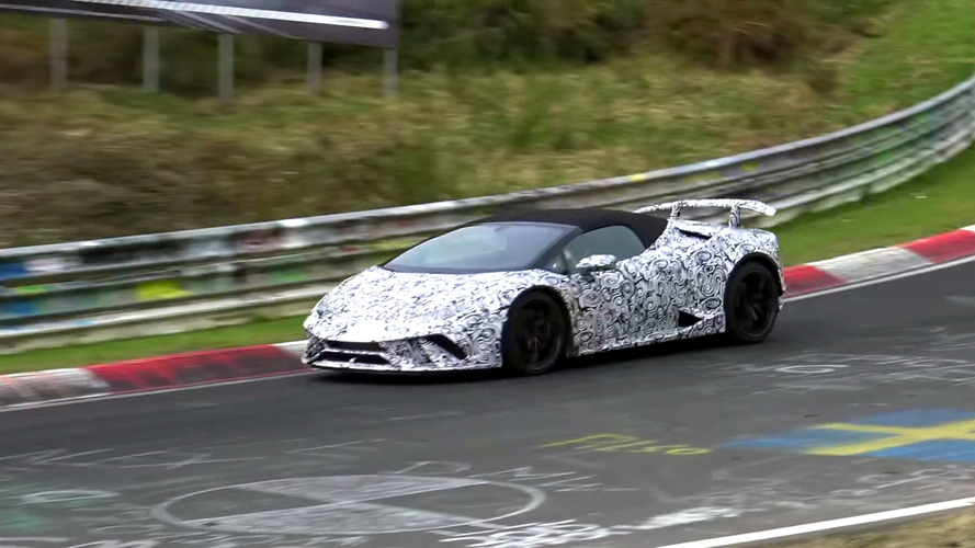 Lambo Huracán Performante Spyder Spied Slowly Lapping The Ring