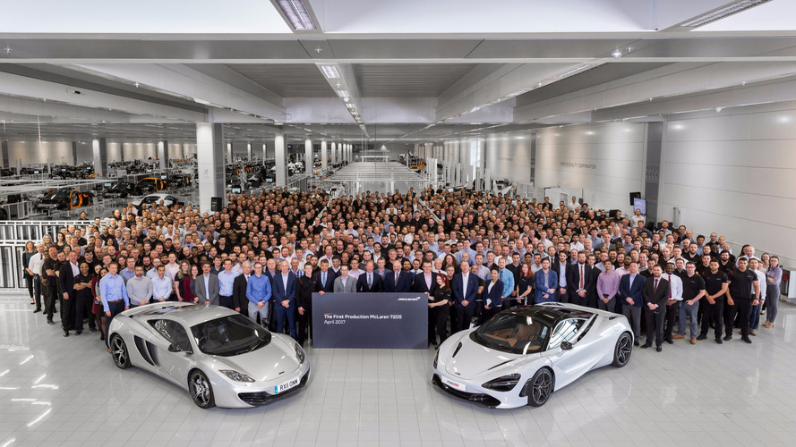 First McLaren 720S Rolls Off the Production Line