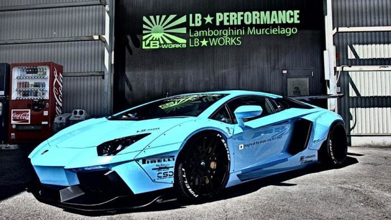 liberty walk lamborghini aventador first images released. Black Bedroom Furniture Sets. Home Design Ideas