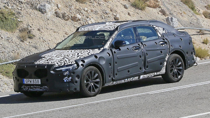 First ever Volvo S90 caught on camera once again, will replace the S80