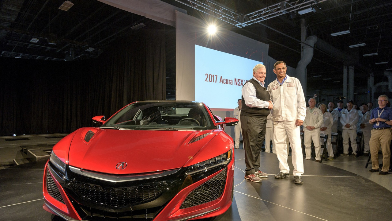 2017 Acura NSX first production car rolls off the assembly line
