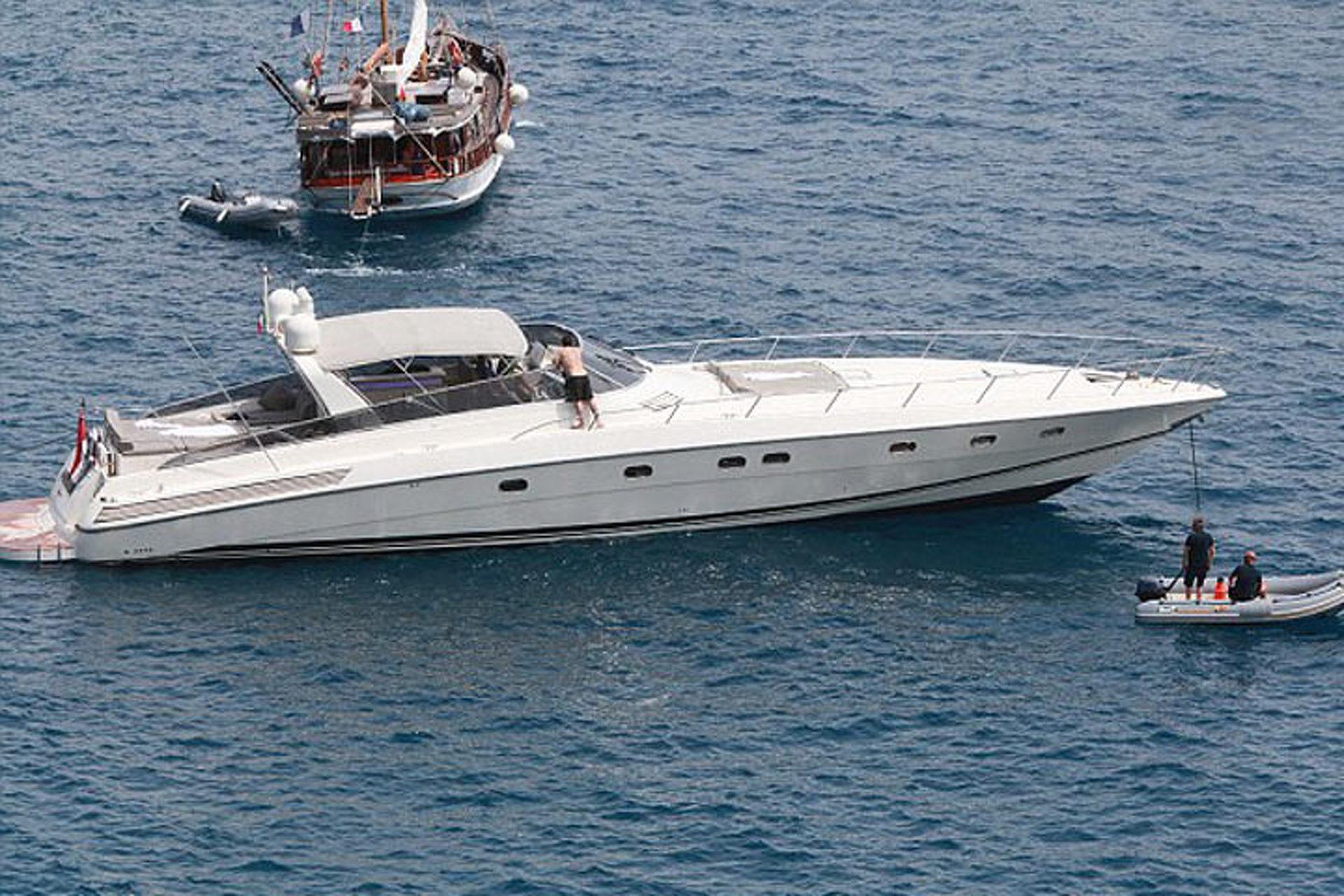 Ex-F1 Driver Eddie Irvine Keeps Good Company Aboard his $20 Million Yacht