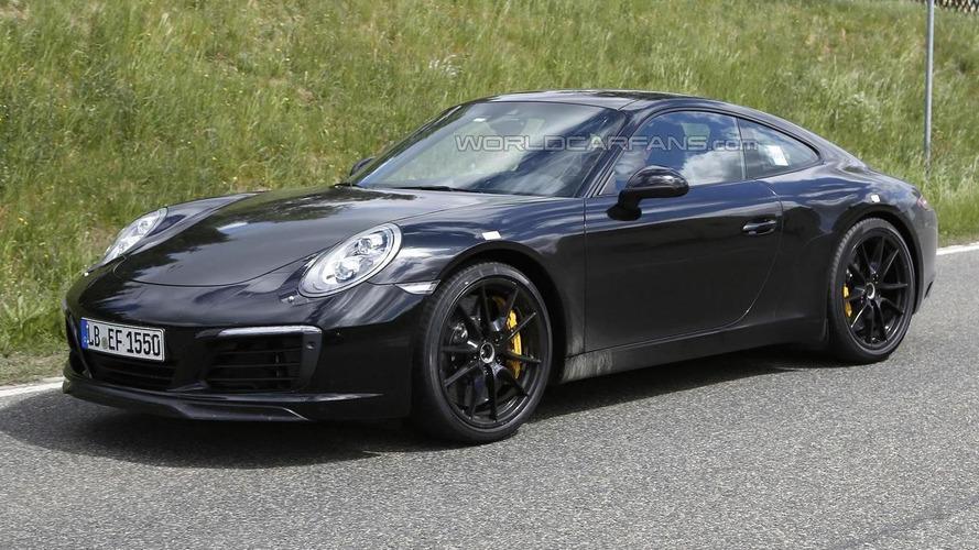 Porsche 911 facelift spied without camo (26 pics)