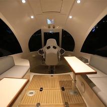 Jet Capsule Boat Features Underwater Cameras, Luxury Cabin