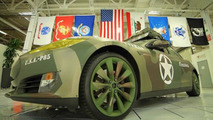 Tesla celebrates Veterans Day with army camo wrapped Model S