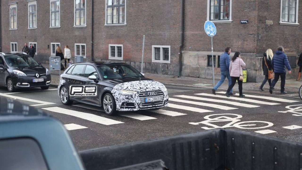 2016 Audi S3 Sportback facelift spy photo