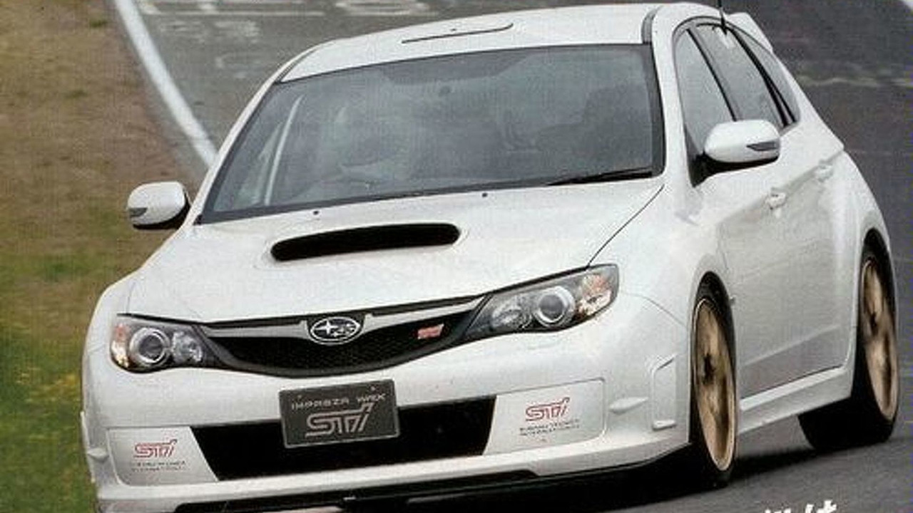 Subaru Impreza WRX STI Spec C Spied at the Ring