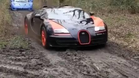 Off-road körülmények között nyúzzák a Veyront, a Miurát és a LaFerarrit