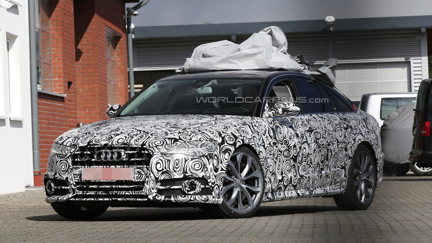 2015 Audi S6 spied with new head- and taillights