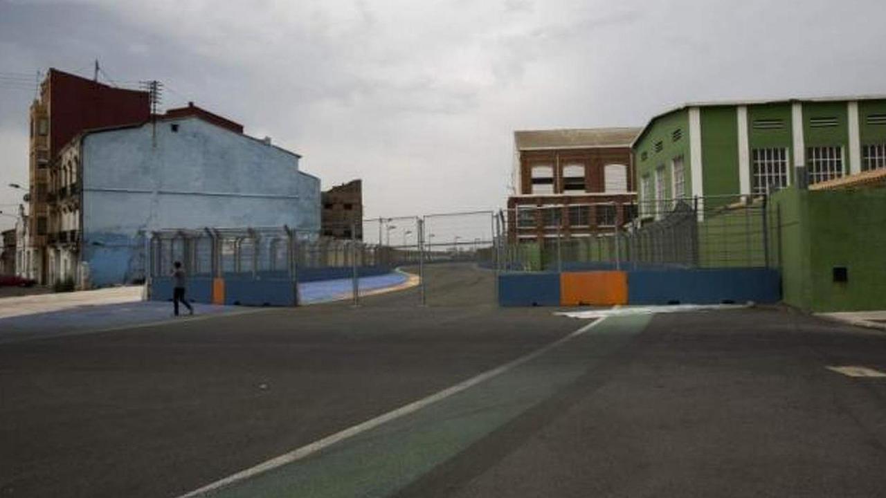 European Grand Prix Valencia Spain circuit in ruinous state