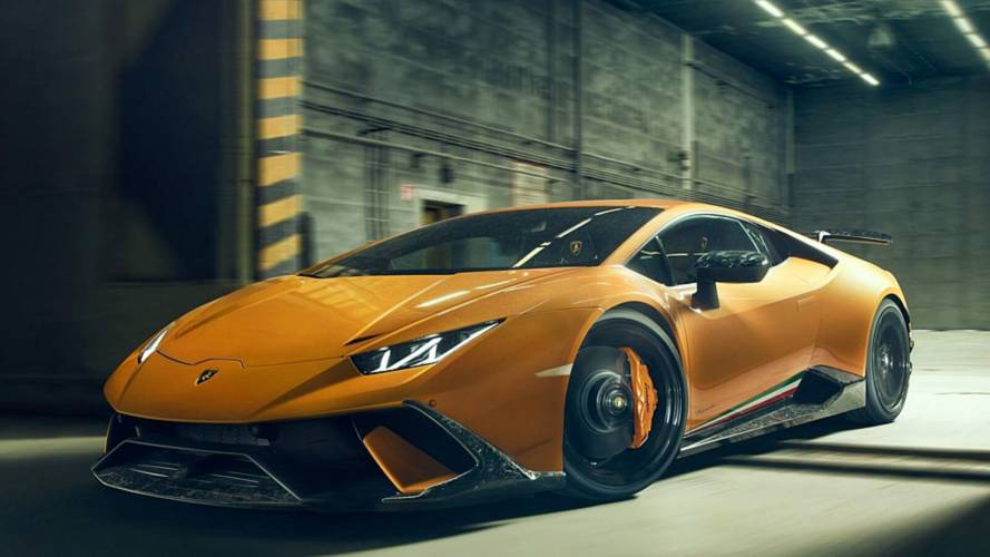 Novitec modifiyeli Lamborghini Huracan Performante'yi inceleyin