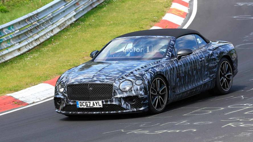 Bentley Continental GTC Spied Showing Its Sporty Side On The 'RIng