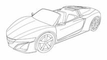Acura NSX Roadster patent renderings leaked?