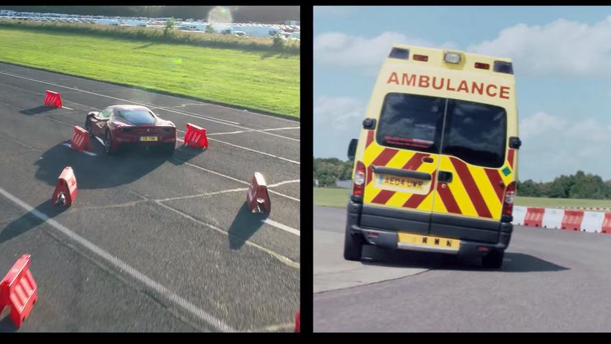 Vidéo - Sebastian Vettel en ambulance contre une Ferrari 488 GTB