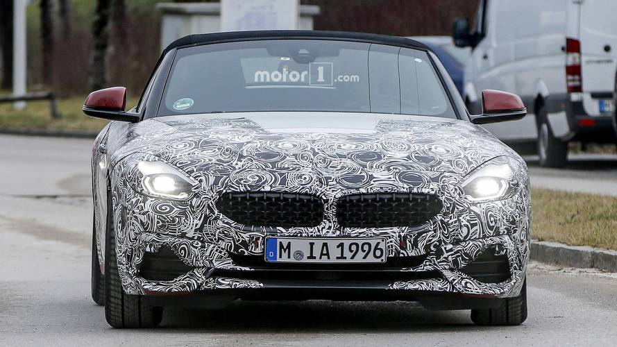 BMW Z4 spotted with less camouflage, reveals concept touches