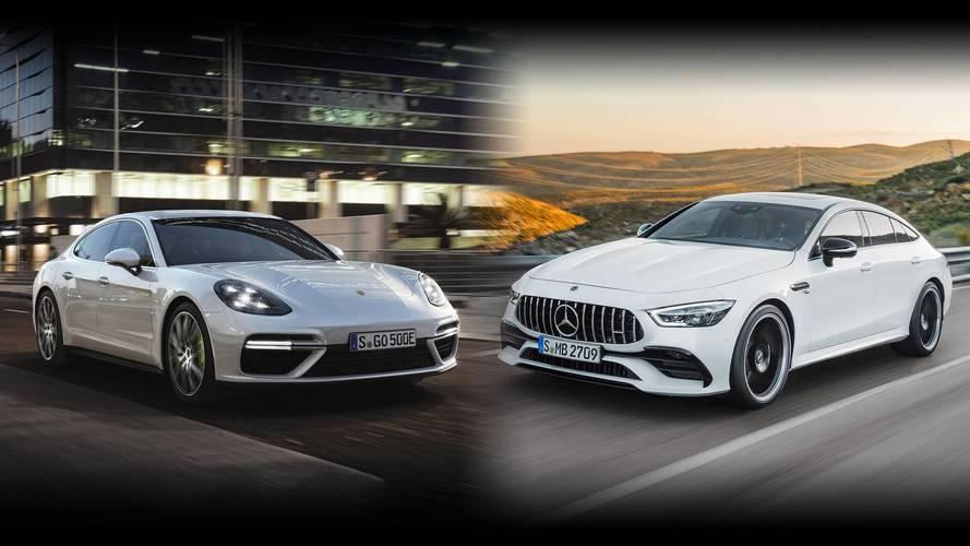 Super Four-Doors: Mercedes-AMG GT Vs. Porsche Panamera