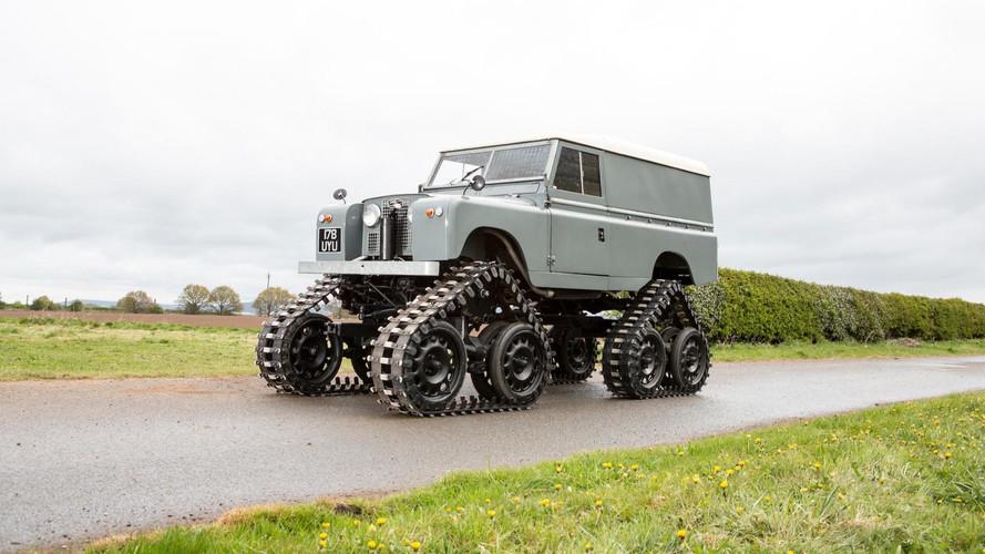 Descubre un Land Rover con orugas de 1958