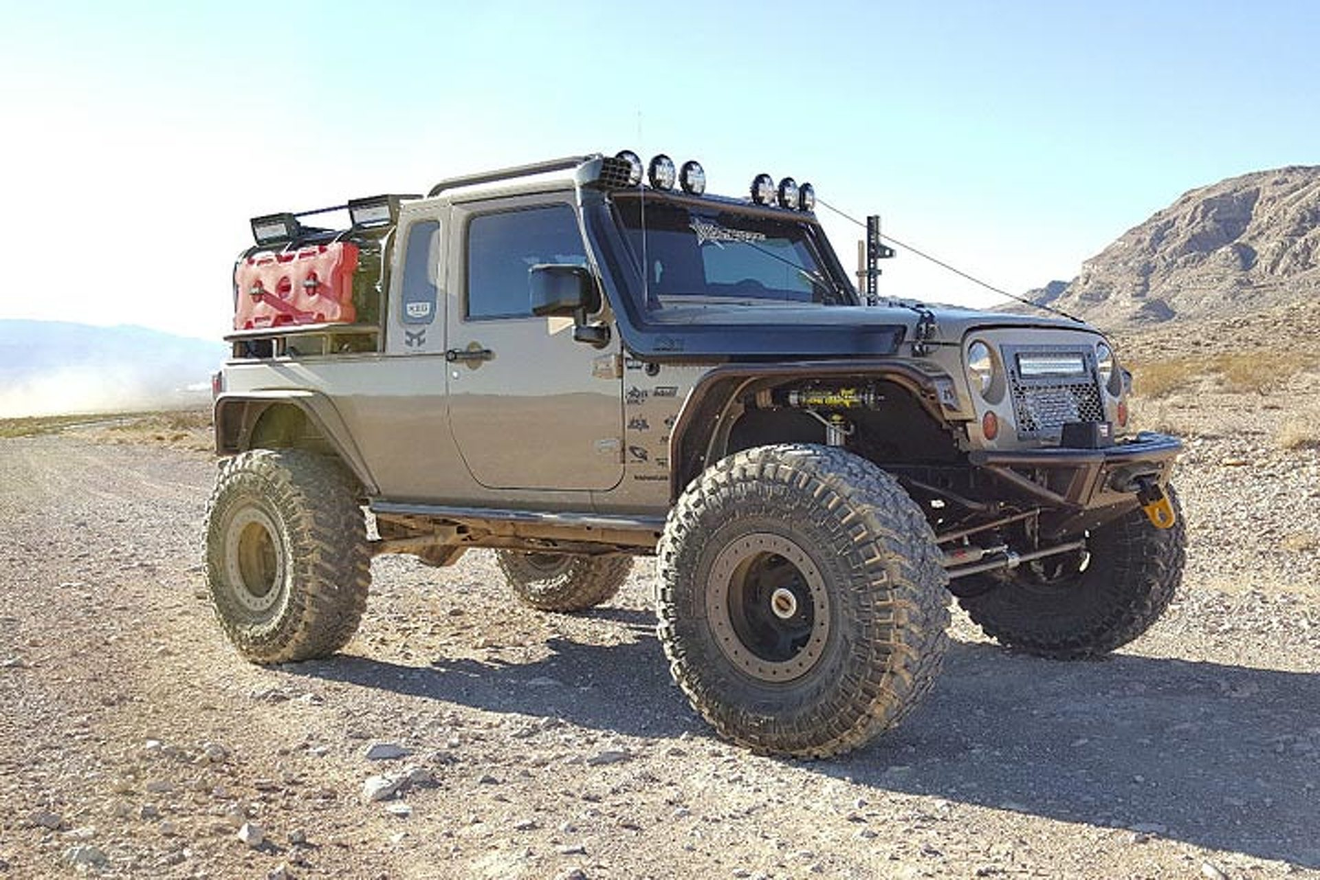 this ebay jeep wrangler pickup looks ready to rock 'n roll