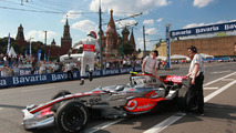 Heikki Kovalainen at Bavaria Moscow City Racing event