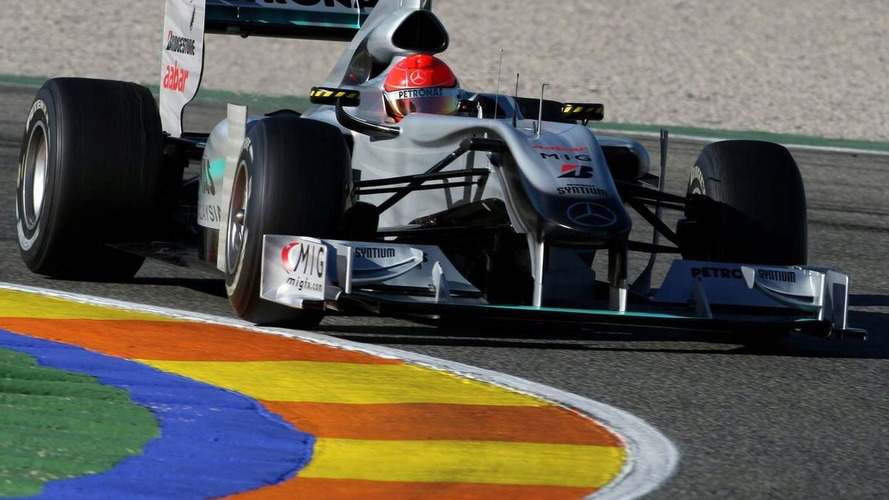 Schumacher faster than Rosberg on day one