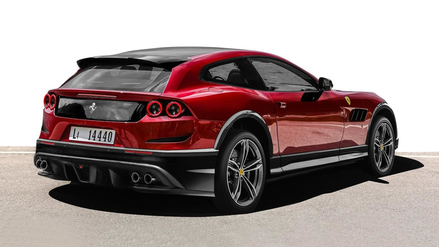 Ferrari GTC4Lusso off road render
