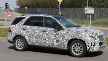 2015 Mercedes-Benz M-Class facelift spied inside and out in southern Germany