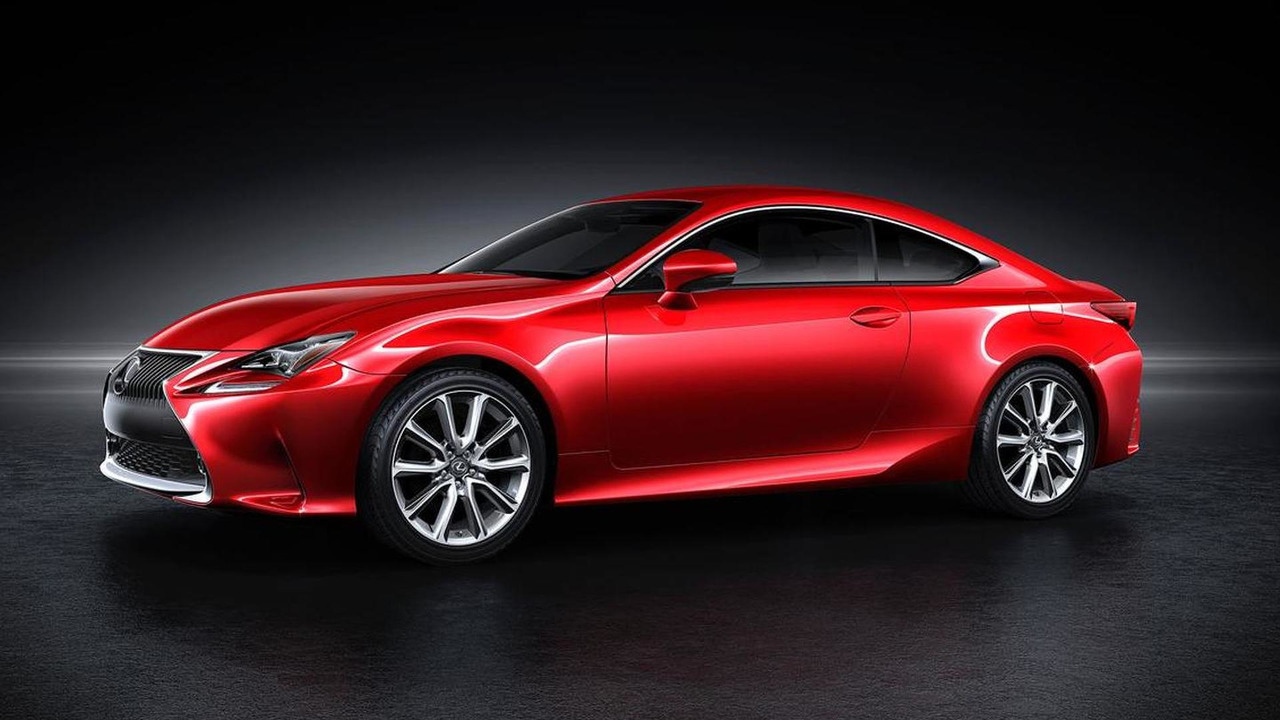 2014 Lexus RC with new red paint