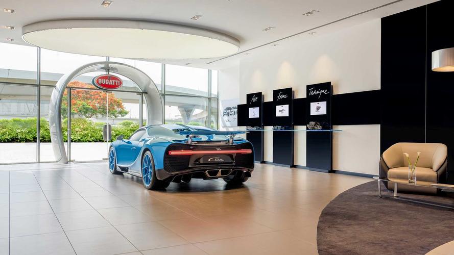 Bugatti nouveau showroom à Dubaï