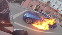 BMW M5 Fire
