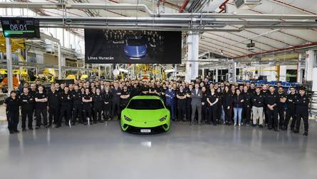 A 10 ezredik Lamborghini Huracán is legördült a gyártósorról