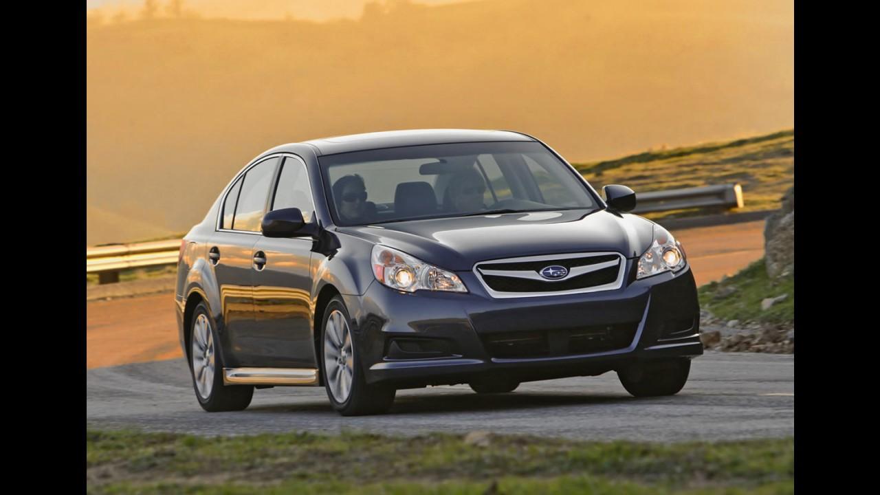 Subaru convoca Legacy 2010 para recall por risco de vazamento de óleo