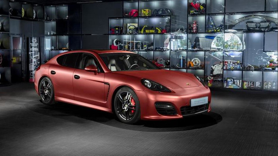 Porsche Panamera Turbo receives striking red aluminum wrap from Overdrive