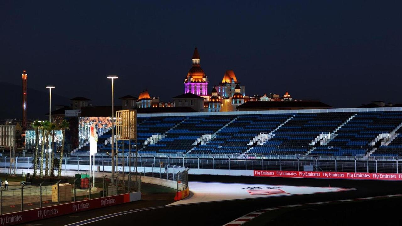 The Sochi Autodrom at night / XPB