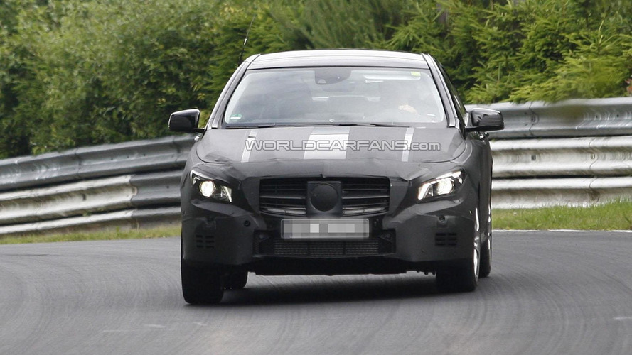 Mercedes-Benz CLA spied with less camouflage [video]