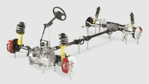 Mitsubishi Evolution X - suspension and driveline