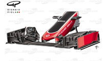 Haas VF-16 front wing, Chinese Grand Prix