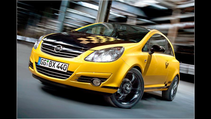 Opel Corsa Color Race: Typ im klassischen Rennoutfit