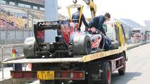 Sebastien Buemi (SUI), Scuderia Toro Rosso crashed, Chinese Grand Prix, 16.04.2010 Shanghai, China