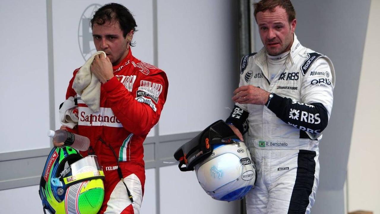 Felipe Massa (BRA), Scuderia Ferrari, Rubens Barrichello (BRA), Williams F1 Team, Malaysian Grand Prix, 04.04.2010 Kuala Lumpur, Malaysia