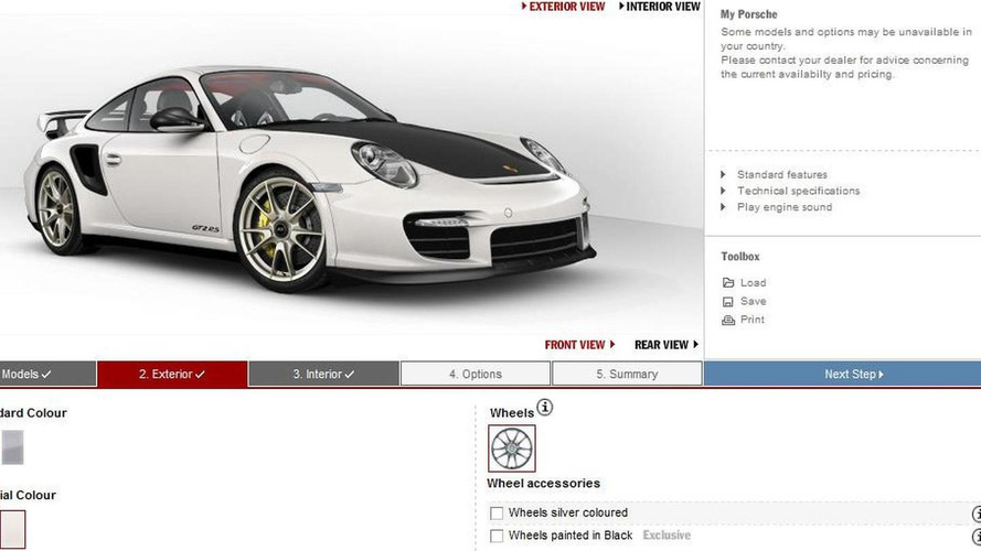 porsche 911 gt2 rs configurator launched. Black Bedroom Furniture Sets. Home Design Ideas