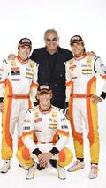 Fernando Alonso - Flavio Briatore - Romain Grosjean - Nelson Piquet