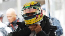 Lewis Hamilton, Mercedes AMG F1 dans le Parc Fermé