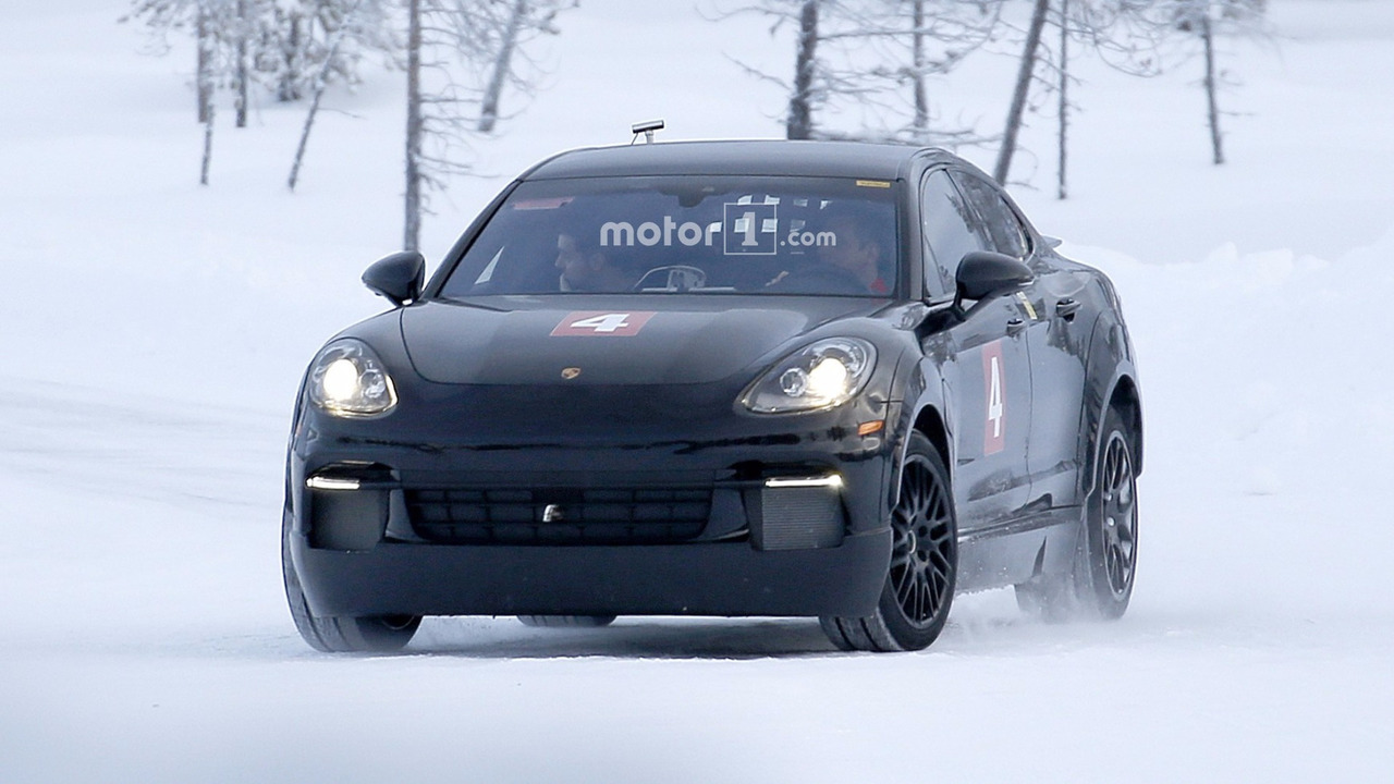 Possible 2019 Porsche Mission E spy photo