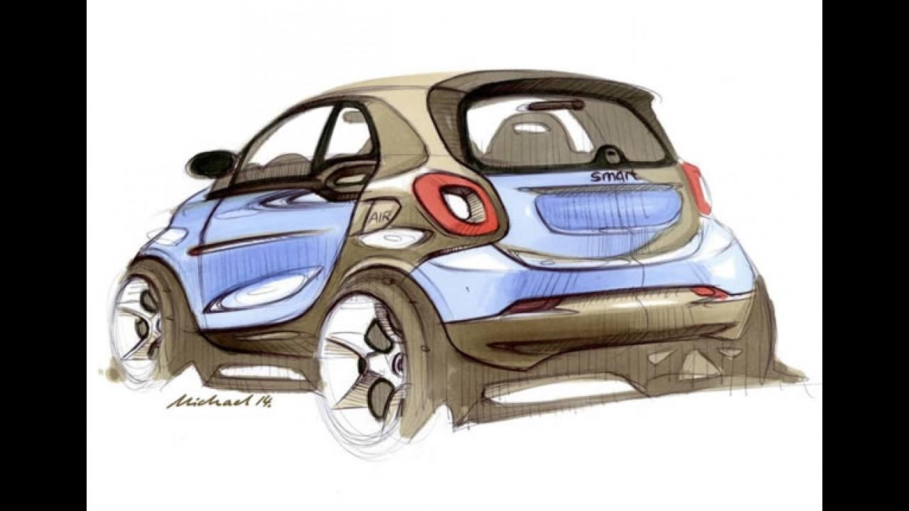 Novo smart fortwo tem desenhos oficiais divulgados