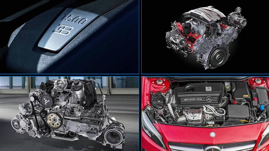 Los motores más potentes, por número de cilindros (actualizado)