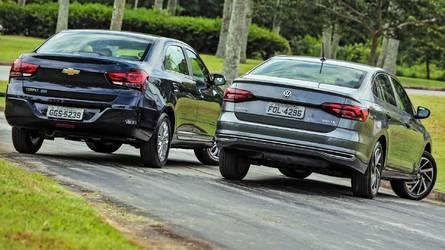 VW Virtus larga na frente do Cobalt em primeiro mês de loja