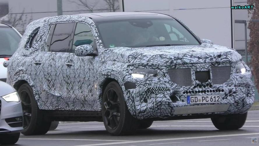 All-New Mercedes GLS And A-Class Sedan Caught In City Traffic