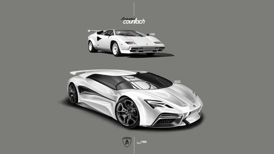 Lamborghini Countach dijital ortamda yenilendi
